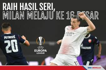 Unggul Agregat Gol Tandang, Milan Melaju ke Babak 16 Besar