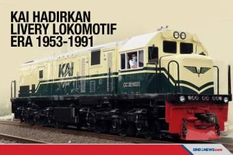 KAI Hadirkan Lagi Livery Lokomotif Tahun 1953-1991
