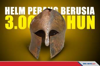 Helm Perang Prajurit Yunani Kuno Berusia 3.000 Tahun Ditemukan
