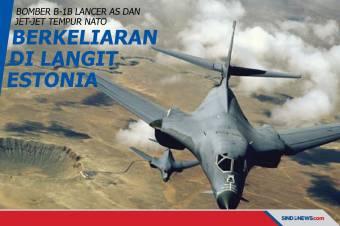 Bomber AS dan Jet-jet Tempur NATO Berkeliaran di Langit Estonia
