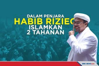 Habib Rizieq Shihab Islamkan 2 Tahanan Ayah dan Anak