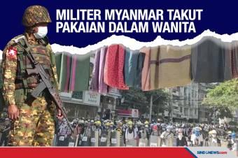 Tentara Myanmar Takut dengan Pakaian Dalam Perempuan