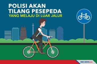 Polisi Akan Tilang Pesepeda yang Melaju di Luar Jalur