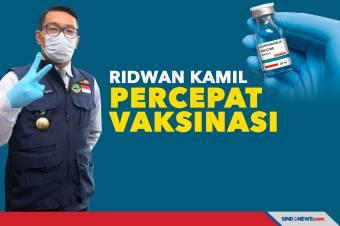 Ridwan Kamil Percepat Vaksinasi Untuk Warga Jawa Barat