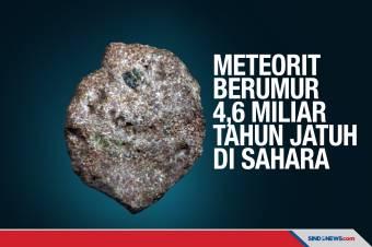 Meteorit Berumur 4,6 Miliar Tahun Jatuh di Sahara