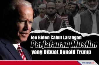 Joe Biden Cabut Larangan Perjalanan Muslim yang Dibuat Trump