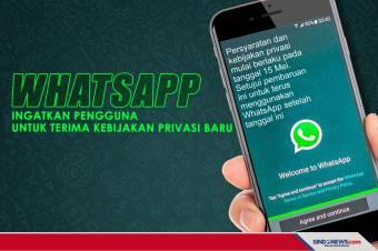 WhatsApp Ingatkan untuk Terima Kebijakan Privasi Baru