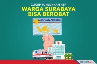 Keren! Cukup Tunjukkan KTP, Warga Surabaya Bisa Berobat