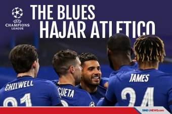 Hajar Atletico Madrid, The Blues Lolos ke Perempat Final