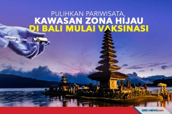 Pulihkan Pariwisata, Kawasan Zona Hijau di Bali Mulai Vaksinasi