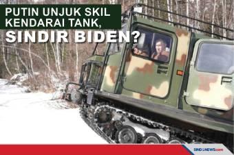 Putin Kendarai Tank Terjang Sungai Beku, Sindir Biden ?