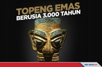 Topeng Emas Berusia 3.000 Tahun Ditemukan di China
