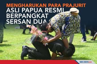 Mengharukan, Para Prajurit Asli Papua Resmi Berpangkat Sersan Dua
