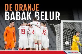 Berstatus Unggulan, Belanda Kalah Telak di Kandang Turki