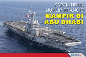 Kapal Induk Nuklir Prancis; Charles de Gaulle Mampir di Abu Dhabi