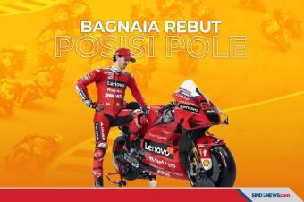 Bagnaia Berhasil Rebut Posisi Pole, Rossi di Posisi Keempat