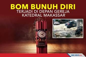 Aksi Bom Bunuh Diri Terjadi di Depan Gereja Katedral Makassar