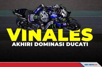 Hasil MotoGP Qatar 2021: Vinales Akhiri Dominasi Ducati