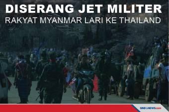 Diserang Jet Militer, Ribuan Rakyat Myanmar Lari ke Thailand