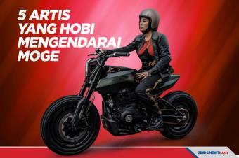 Artis Indonesia yang Memiliki Hobi Mengendarai Motor Gede