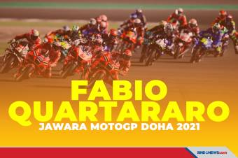 Lewati Jorge Martin, Fabio Quartararo Menangi MotoGP Doha 2021