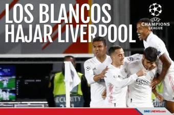 Tampil Memukau, Real Madrid Sukses Hajar Liverpool