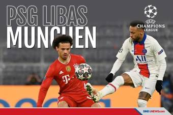 Paris Saint Germain Libas Bayern Munchen di Allianz Arena