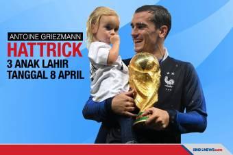 Kompak, Tiga Anak Antoine Griezmann Lahir Tanggal 8 April