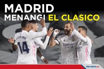 Puncaki Klasemen, Real Madrid Menangi Duel El Clasico