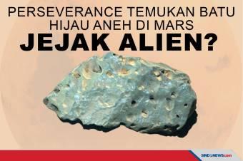 Perseverance Temukan Batu Hijau Aneh di Mars, Jejak Alien?