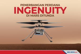 NASA Tunda Terbangkan Helikopter Ingenuity di Mars