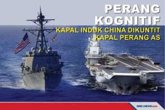 Perang Kognitif, Kapal Induk China Dikuntit Kapal Perang AS