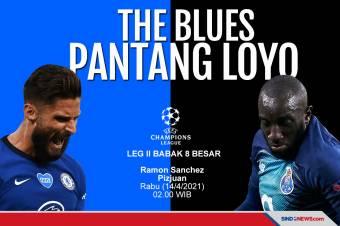 The Blues Pantang Loyo saat Menjamu FC Porto pada Leg II