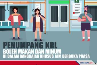 Selama Ramadhan Penumpang Commuter Line boleh Berbuka di Kereta