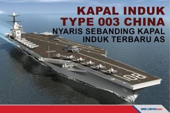 Kapal Induk Type 003 China Nyaris Sebanding Kapal Induk Terbaru AS