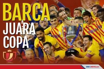 Hancurkan Athletic Bilbao, Barcelona Juara Copa del Rey 2020/2021