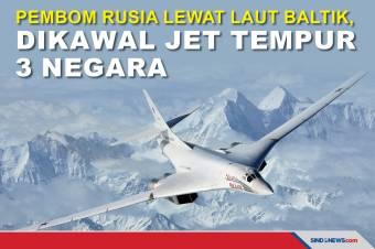 Pembom Rusia Lewat Laut Baltik, Dikawal Jet Tempur 3 Negara