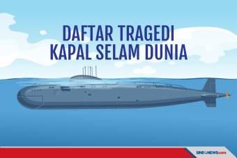 KRI Nanggala-402 Hilang, Ini Daftar Tragedi Kapal Selam Dunia