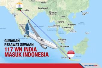Menggunakan Pesawat Carter, 117 WN India Datang ke Indonesia