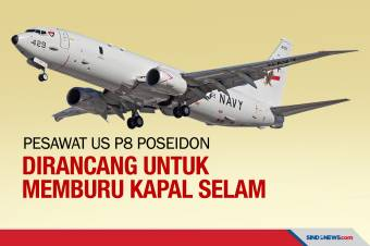 Pesawat US P8 Poseidon Siap Cari KRI Nanggala-402 di Perairan Bali