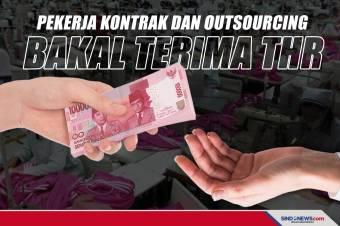 Kemnaker Pastikan Pekerja Kontrak dan Outsourcing Dapat THR