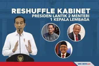 Reshuffle Kabinet, Presiden Lantik 2 Menteri 1 Kepala Lembaga