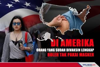 Orang yang Sudah Divaksin Lengkap Boleh Tak Pakai Masker di AS