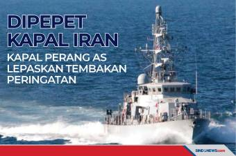 Dipepet Kapal Iran, Kapal Perang AS Lepaskan Tembakan Peringatan