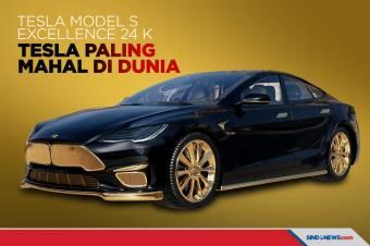 Berlapis Emas 24 Karat, Ini Tesla Paling Mahal di Dunia