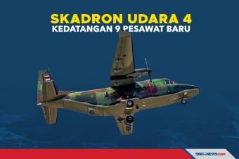 Skadron Udara 4 Kedatangan 9 Pesawat Baru Produksi Dalam Negeri