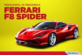 Ferrari F8 Spider Mengaspal di Indonesia, Intip Spesifikasinya