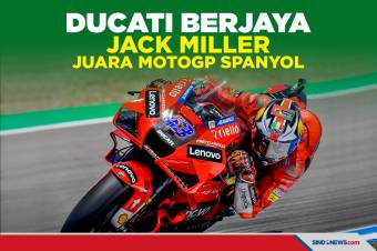 Ducati Berjaya, Jack Miller Juarai MotoGP Spanyol 2021