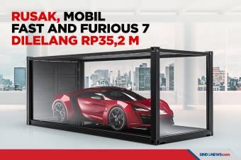 Rusak, Mobil Fast and Furious 7 Dilelang Rp35,2 Miliar