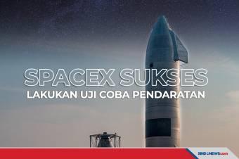 Roket SpaceX untuk Misi ke Mars Sukses Diuji Coba Pendaratan